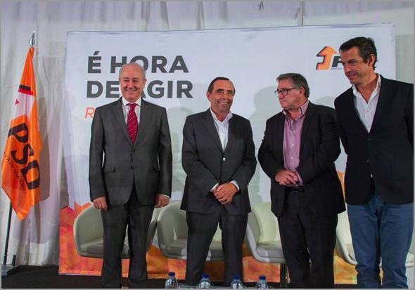 Rui Rio na Guarda - Álvaro Amaro, António Robalo, Carlos Peixoto - Capeia Arraiana