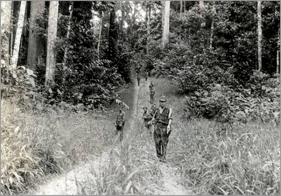 Patrulha a pé na savana da Guiné - Capeia Arraiana