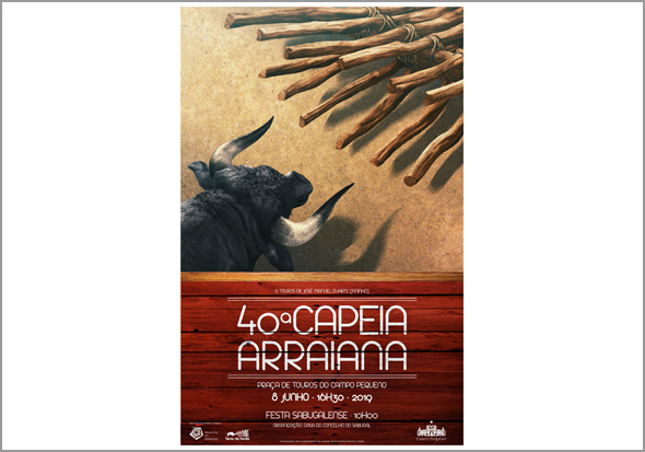Cartaz da 40.ª Capeia Arraiana da Casa do Concelho do Sabugal - Capeia Arraiana