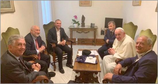O Papa Francisco reuniu com o prémio Nobel da Economia Joseph Stiglitz
