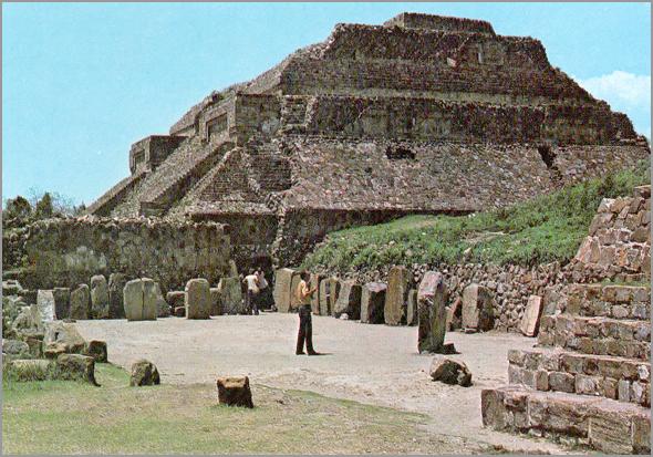 A Pirâmide de Monte Alban, Oaxaca