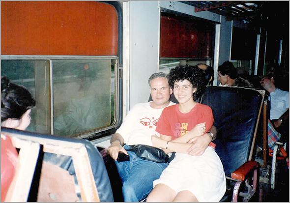 Franklim no comboio com a Solangel