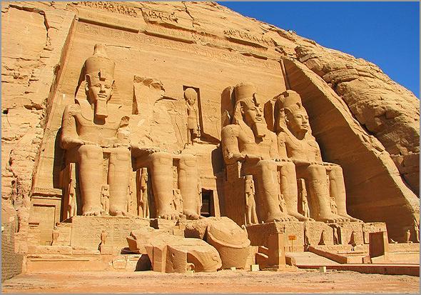 Templos de Abu Simbel no Egipto