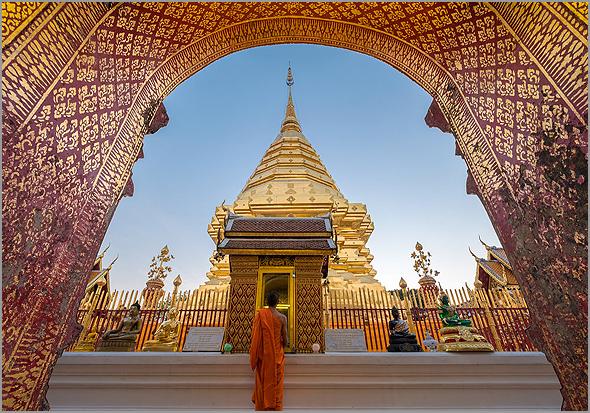 Templo de Chiang Mai na Tailândia