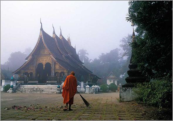 Templo Wat Xieng Thong em Luang Prabang