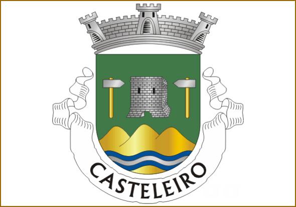 O castelo, a Ribeira e as três serras (devem ser a da Opa, a de Sortelha e o Cabeço Pelado)