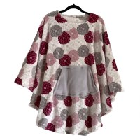 Women's Minky Fleece Poncho Cape