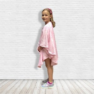 Child Gift Warm Fleece Poncho Cape