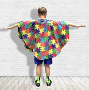 Child's Warm Fleece Poncho