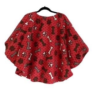 Child Warm Fleece Poncho Cape