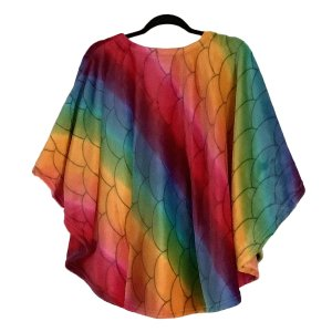 Girl Hospital Gift Fleece Poncho Cape Ivy