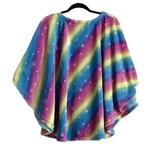 Child Hospital Gift Poncho Cape Ivy Rainbows Stars