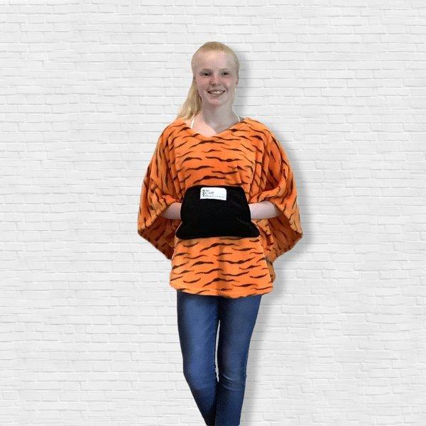 Child Hospital Gift fleece poncho Cape Ivy Orange Tiger