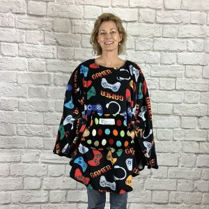 Adult Teen Hospital Gift Fleece Poncho Gamer