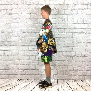 Child Hospital Gift Fleece Poncho Cape Ivy Puppy Presents