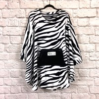 Adult Hospital Gift Fleece Poncho Cape Ivy Zebra