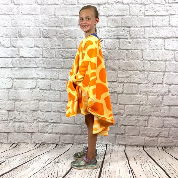Child Hospital Gift Fleece Poncho Cape Ivy Giraffe