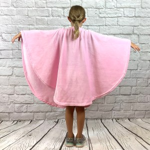 Child Hospital Gift Fleece Poncho Cape Ivy Pink