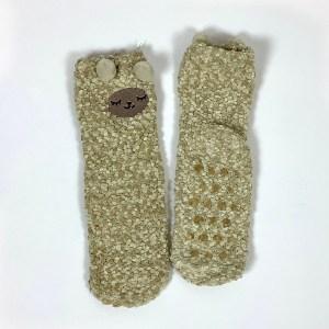Child Small Adult Fluffy non-slip gripper socks Cape Ivy Lambs