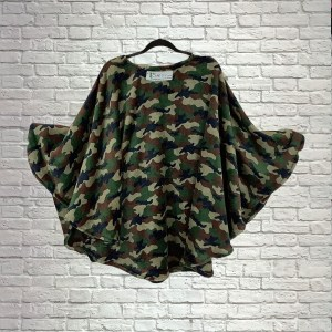 Teen Adult Hospital Gift Fleece Poncho Cape Ivy Camouflage