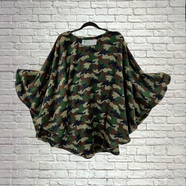 Teen Adult Hospital Gift Fleece Poncho Cape Ivy Camouflage