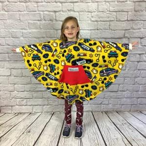Child Hospital Gift Fleece Poncho Cape Ivy Yellow Police