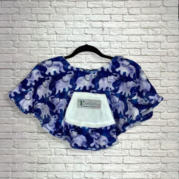 Toddler Baby Hospital Gift Fleece Poncho Cape Ivy Celestial Elephants