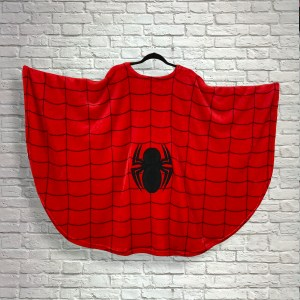 Teen Adult Hospital Gift Fleece Poncho Cape Ivy Red Spider