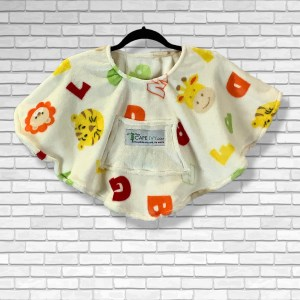 Toddler Hospital Gift Cape Ivy Poncho Animals Alphabet