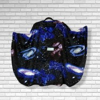 Adult Hospital Gift Fleece Poncho Cape Ivy Constellations in a Night Sky