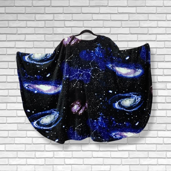 Adult Teen Hospital Gift Fleece Poncho Cape Ivy Constellation in a Night Sky