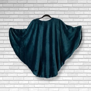 Adult Hospital Gift Fleece Poncho Cape Ivy Extra Warm Teal