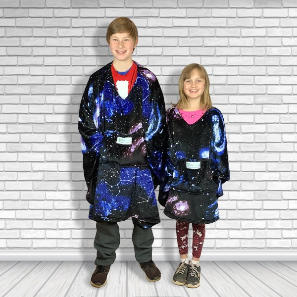 Child Hospital Gift Fleece Poncho Cape Ivy Constellations in a Night Sky