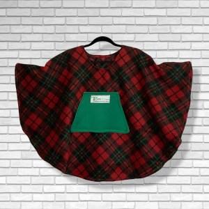 Child Hospital Gift Fleece Poncho Cape Ivy Christmas plaid