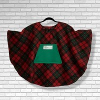 Child Hospital Gift Fleece Poncho Cape Ivy Christmas plaid