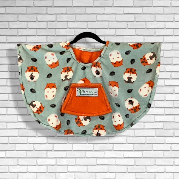Toddler Hospital Gift Fleece Poncho Cape Ivy Happy Hamsters