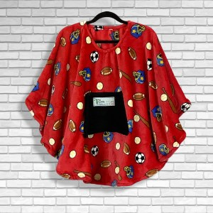 Child Hospital Gift Fleece Poncho Cape Ivy Play Ball