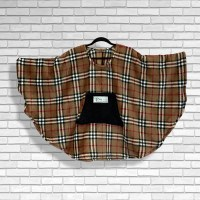 Child Hospital Gift Fleece Poncho Cape Ivy Classic Plaid