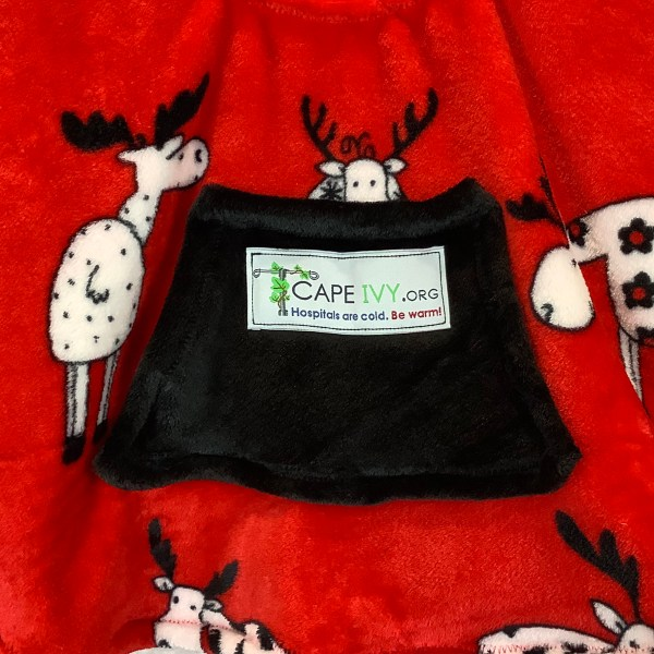 Toddler Hospital Gift Fleece Poncho Cape Ivy Merry Moose