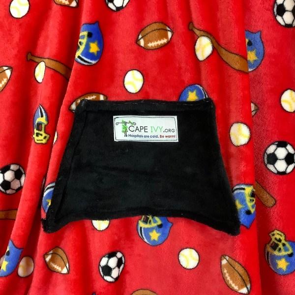 Child Hospital Gift Fleece Poncho Cape Ivy Play Ball