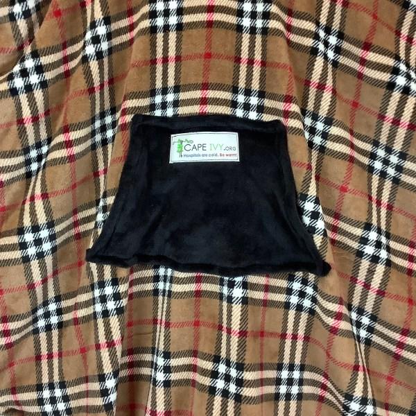 Teen Adult Hospital Gift Fleece Poncho Cape Ivy Plaid