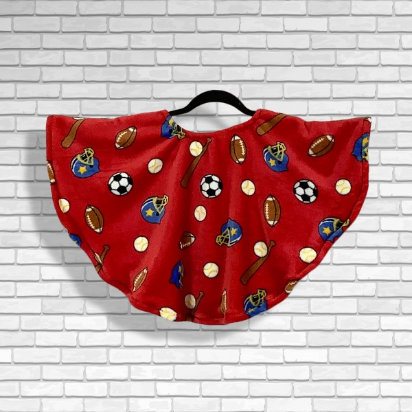 Hospital Gift Fleece Toddler Poncho Cape Ivy Play Ball