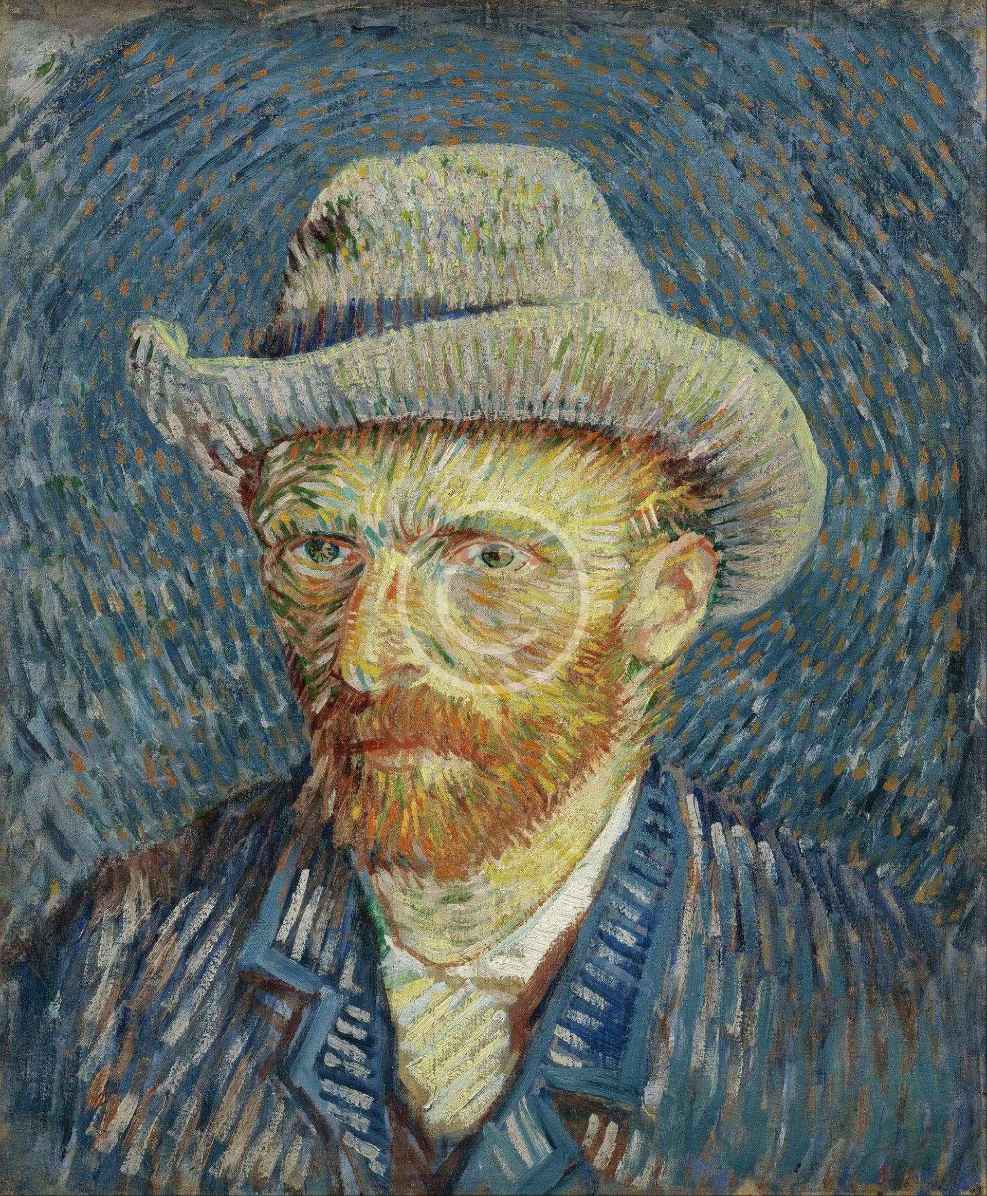 Self-Portrait with Grey Felt Hat
