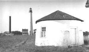 Base of the 1847 lighthouse. Click for full image