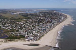 Aerial view of the Cove beach in 2006