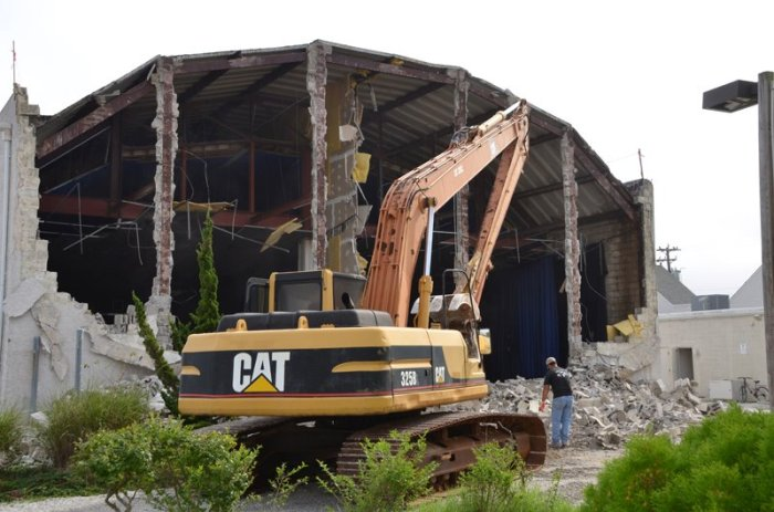 Beach Theatre demolition in Cape May New Jersey