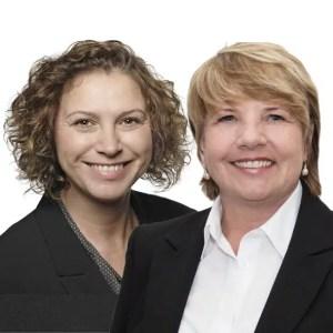 Weißer Hintergrund Heike Gutknecht und Cornelia Dettmer