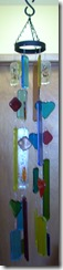 Fused Glass Wind Chimes and Hearts (1/3)