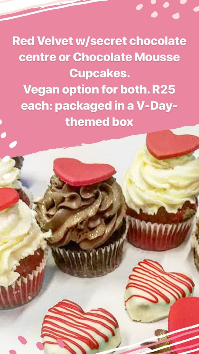 dolce bakery valentine's day cape town vegan