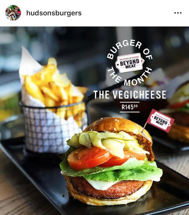 hudsons vegicheese beyond meat cape town vegan